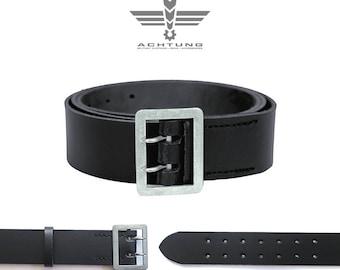 Police Black Leather Belt