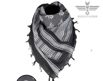 Black/White Shemags Scarf 'Skull'