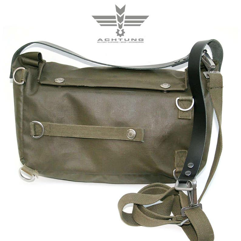 ef7a97397a1 Military vintage Upcycled Swiss Gas Mask Bag