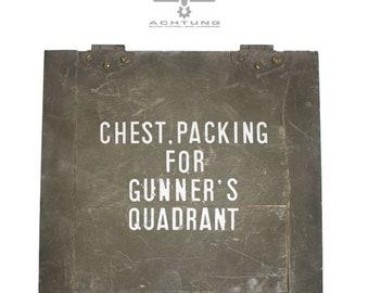 Original US Army gunner's quadrant chest used