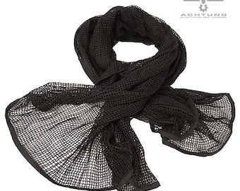 Black Net scarf