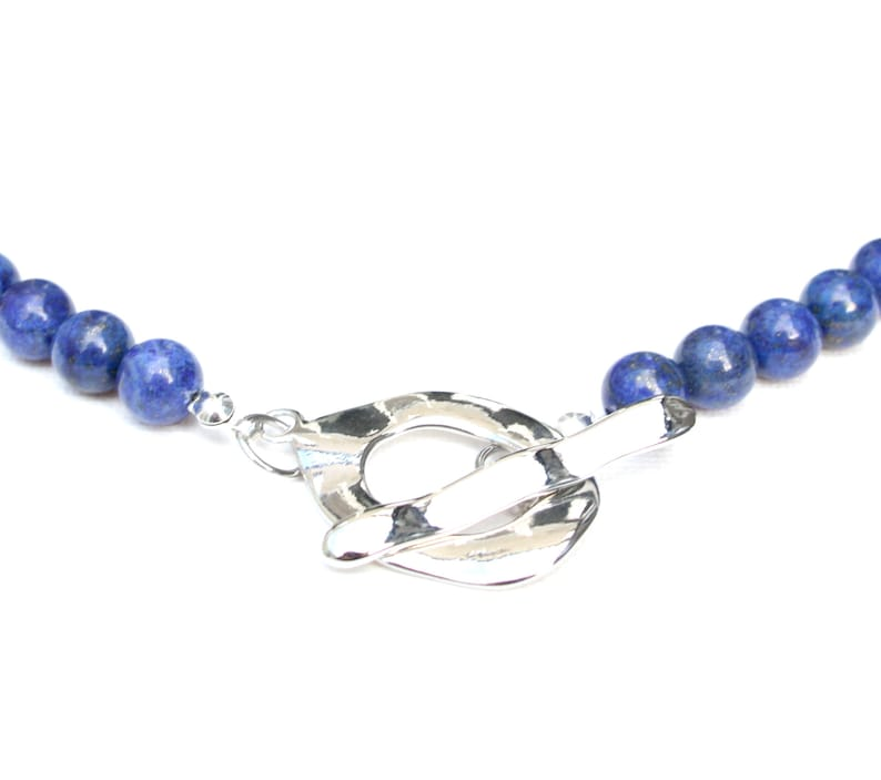 Lapis Lazuli choker sidereal blue stone with gold inclusions. image 0