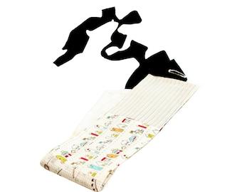 Cotton obi belt. Ecru white patchwork obi belt, padded obi, long strings and belt loop. Original design obi belt. Fits every size!