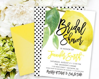 Lemon Bridal Shower Invitation - Lemon Invitation - Lemon Theme Shower