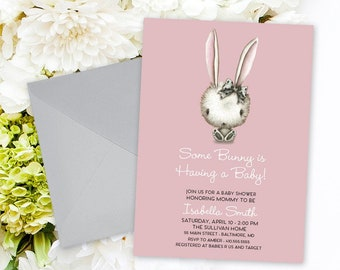 Bunny Baby Shower Invitation