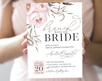 Brunch Bridal Shower Invitation - Brunch with the Bride