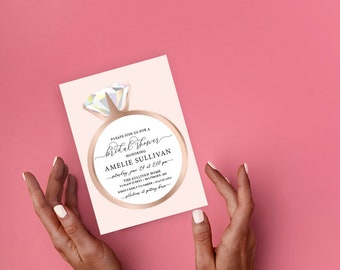 He Put a Ring on It - Diamond Ring - Bridal Shower Invitation