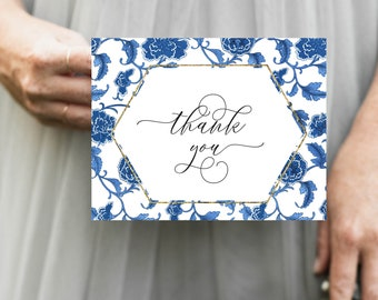 Blue and White Chinoiserie Thank You Notes