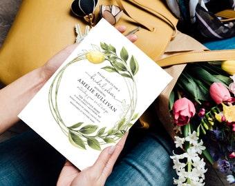 Italian Lemon Bridal Shower Invitation