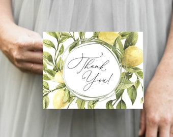 Tuscan Lemon Thank You Notes