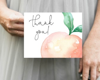 Sweet as a Peach Thank You Notes