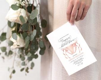 Pink Lingerie Bridal Shower Invitation - Panty Party