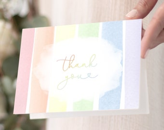 Rainbow Baby Thank You Notes