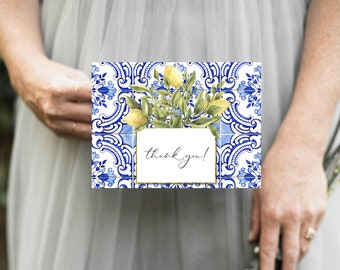 Tuscan Lemon Tile Thank You Notes