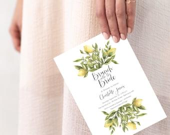 Vintage Italian Lemon Brunch with the Bride Bridal Shower Invitation