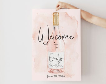 Rosé All Day Brunch and Bubbly Bridal Shower Welcome Sign