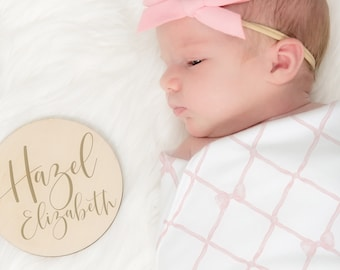 Personalized Baby Name Sign, Custom Name Baby Name Sign, Wooden Baby Name Photo Prop, Newborn Photo Prop, Baby Name Reveal Sign