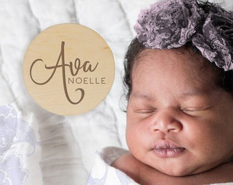 Personalized Baby Name Sign, Custom Baby Name Sign, Wooden Name Photo Prop, Newborn Photo Prop, Baby Name Reveal Sign, Name Announcement