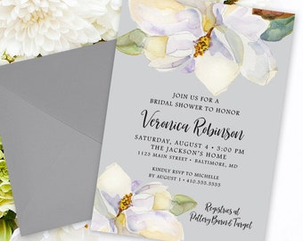 Magnolia Shower Invitation Bridal Shower
