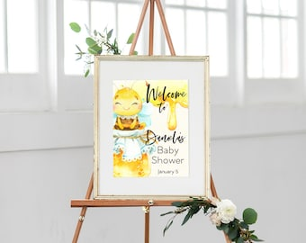 Honey Bee Baby Shower Welcome Sign