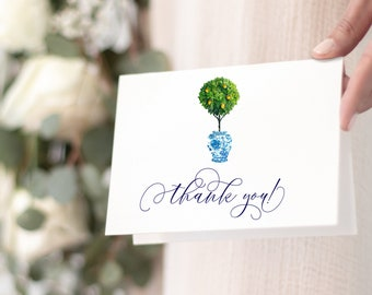 Chinoiserie Ginger Jar Tuscan Lemon Tree Thank You Notes