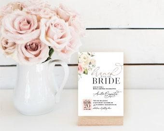 Pink Brunch Bridal Shower Invitation