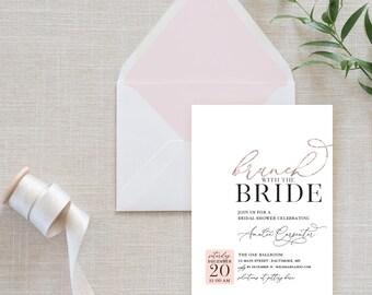 Brunch Bridal Shower Invitation