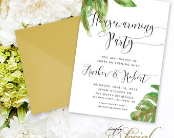 Leaves Housewarming Party Invitation