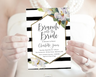 Brunch with the Bride Magnolia Bridal Shower Invitation