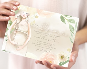 Gender Neutral In Full Bloom Baby Shower Invitation - Watercolor Flowers