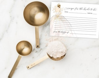 INSTANT DOWNLOAD Blonde Bride in a Gown Recipe Card