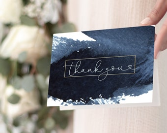 Navy and White Thank You Notes