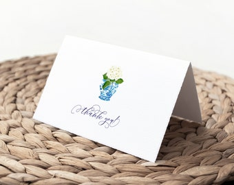 Hydrangea Chinoiserie Ginger Jar Thank You Notes