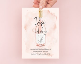 Rosé All Day Bridal Shower Invitation - Brunch with the Bride