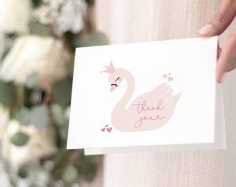 Swan Princess Thank You Notes