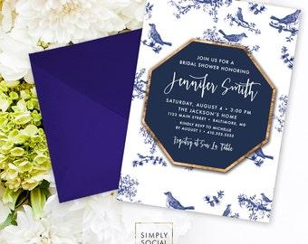 Chinoiserie Bridal Shower Invitation