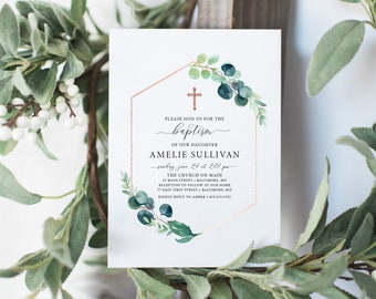Olive Branch Baptism Invitation