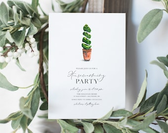 Topiary Tree Housewarming Party Invitation