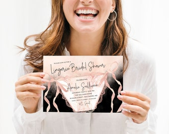 Sexy Nude Lingerie Bridal Shower Invitation - Panty Party