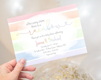 Rainbow Baby - Baby Shower Invitation