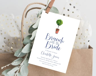 Italian Lemon Tree, Brunch with the Bride, Bridal Shower Invitation