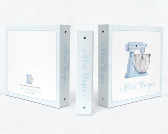 Recipe Book Binder - Recipes for Bride to Be - Blank Cookbook - Custom 3 Ring Binder - Bridal Shower Gift - Engagement Gift - Gift for Bride