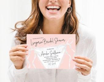 Lingerie Bridal Shower Invitation - Panty Party