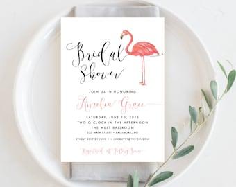 Flamingo Bridal Shower Invitation