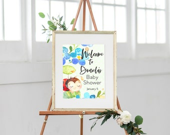 Lady Bug Baby Shower Welcome Sign