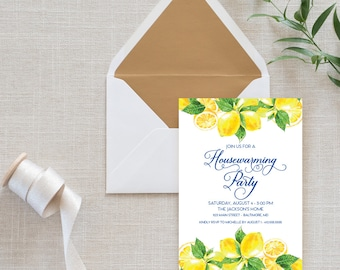 Lemon Housewarming Party Invitation