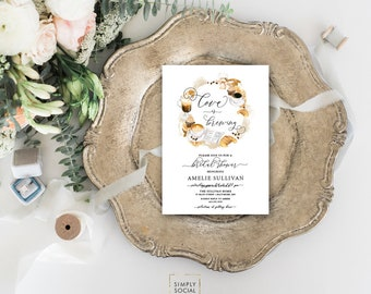 Coffee Bridal Shower Invitation