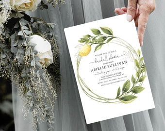 Italian Lemon Bridal Shower Invitation