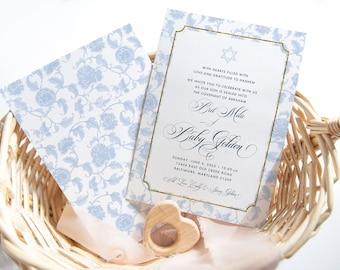 Bris Invitation - Brit Mila Invites - New Jewish Baby - Welcome Baby - Star of David Invitation - Religious Ceremony Invites
