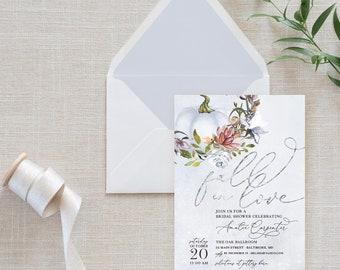 Blue Pumpkin Bridal Shower Invitation
